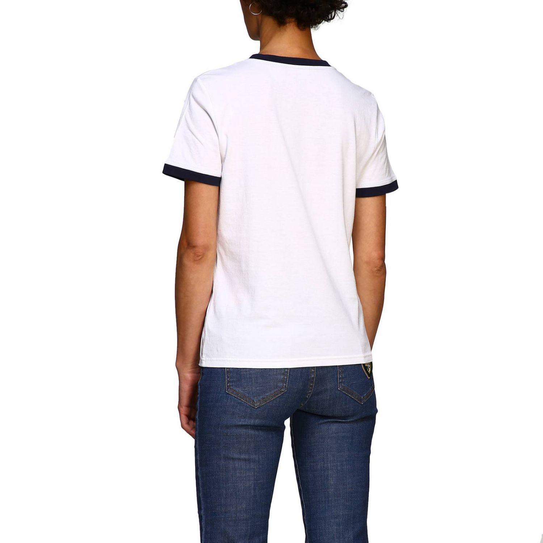 T-shirt Tory Burch: T-shirt Tory Burch a maniche corte con patch logo bianco 3