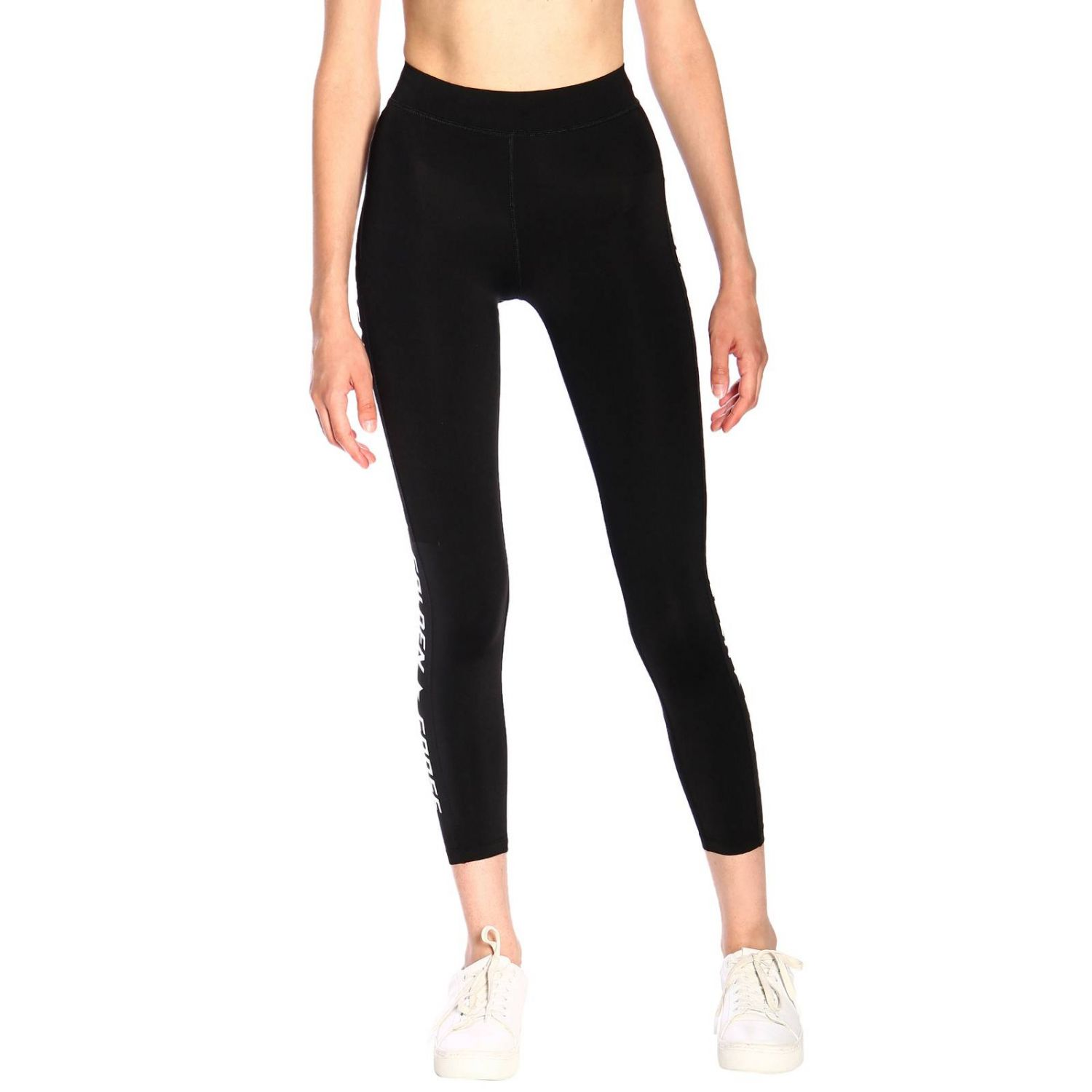 Leggings Golden Goose lurex con maxi logo nero 1