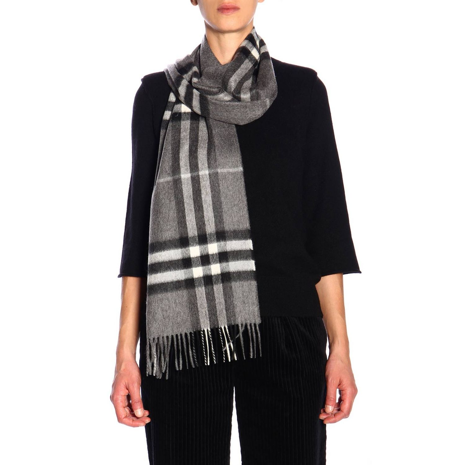 Scarf Burberry: Scarf women Burberry grey 1