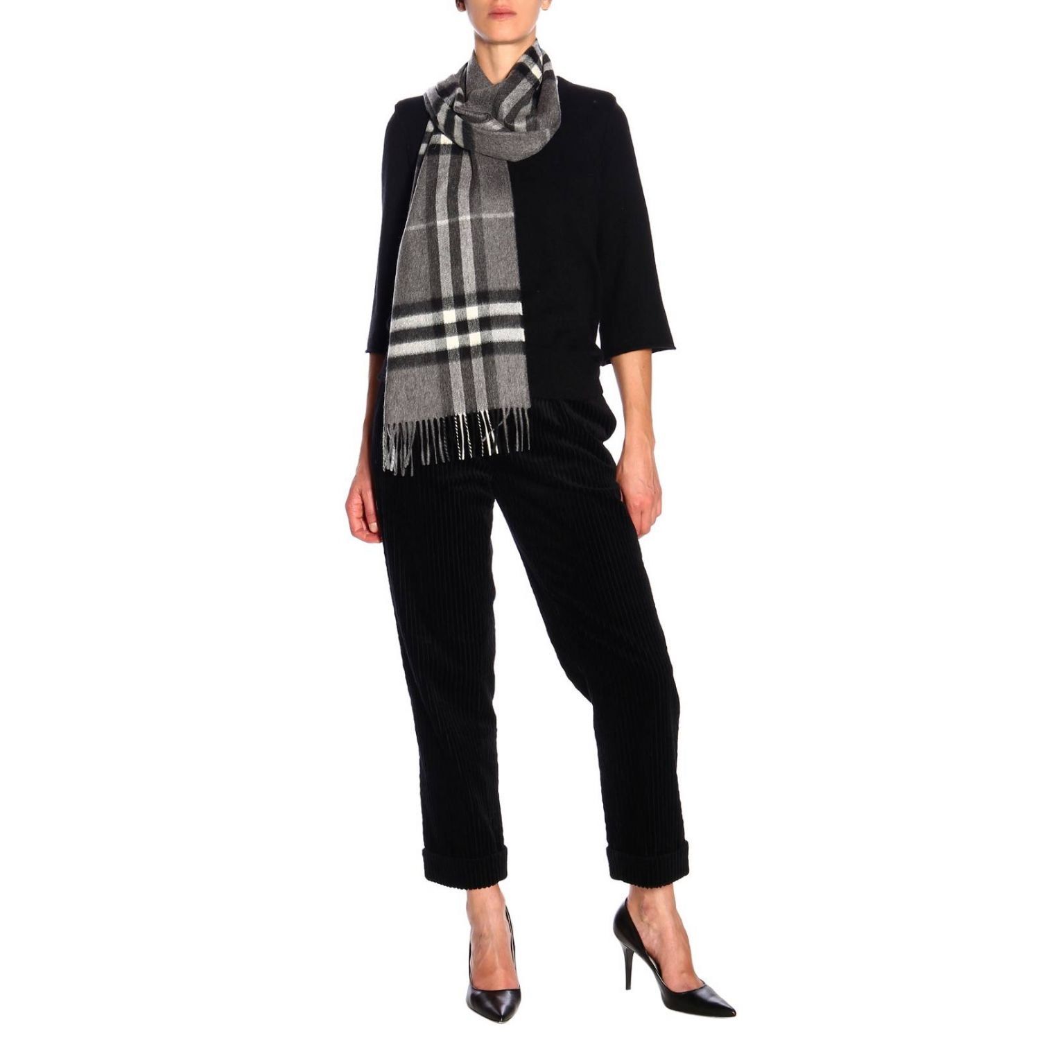 Scarf Burberry: Scarf women Burberry grey 2