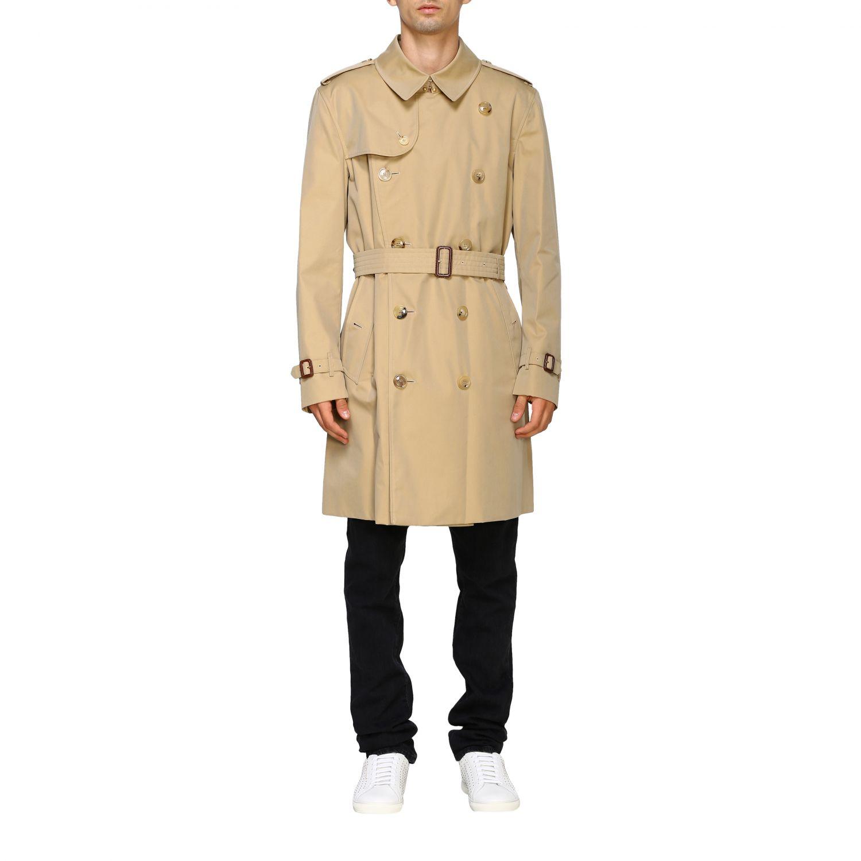 外套 Burberry: Burberry 防水棉配腰带中长风衣 蜜色 1