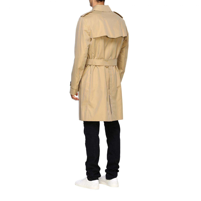外套 Burberry: Burberry 防水棉配腰带中长风衣 蜜色 3