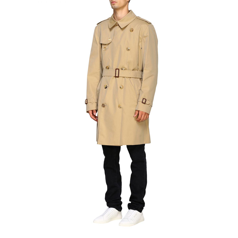 外套 Burberry: Burberry 防水棉配腰带中长风衣 蜜色 4