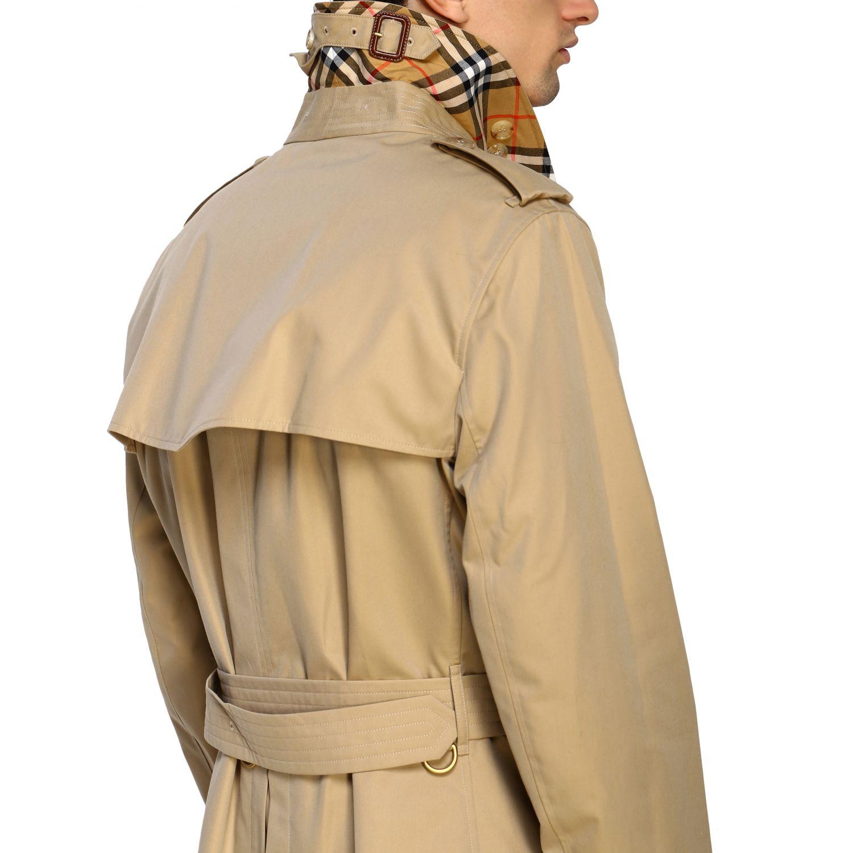 外套 Burberry: Burberry 防水棉配腰带中长风衣 蜜色 5