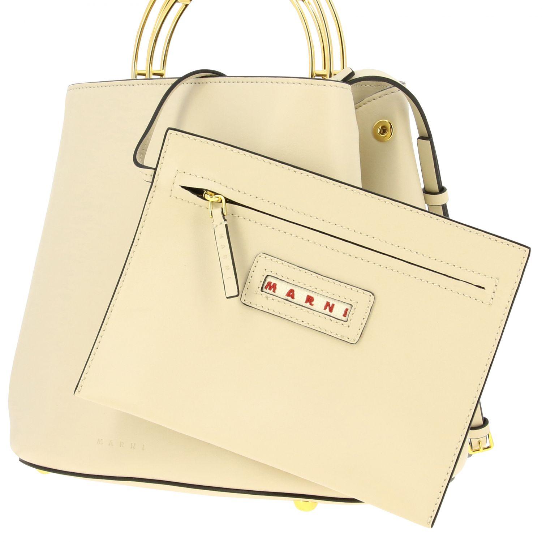 Tote bags Marni: Tote bags women Marni white 4