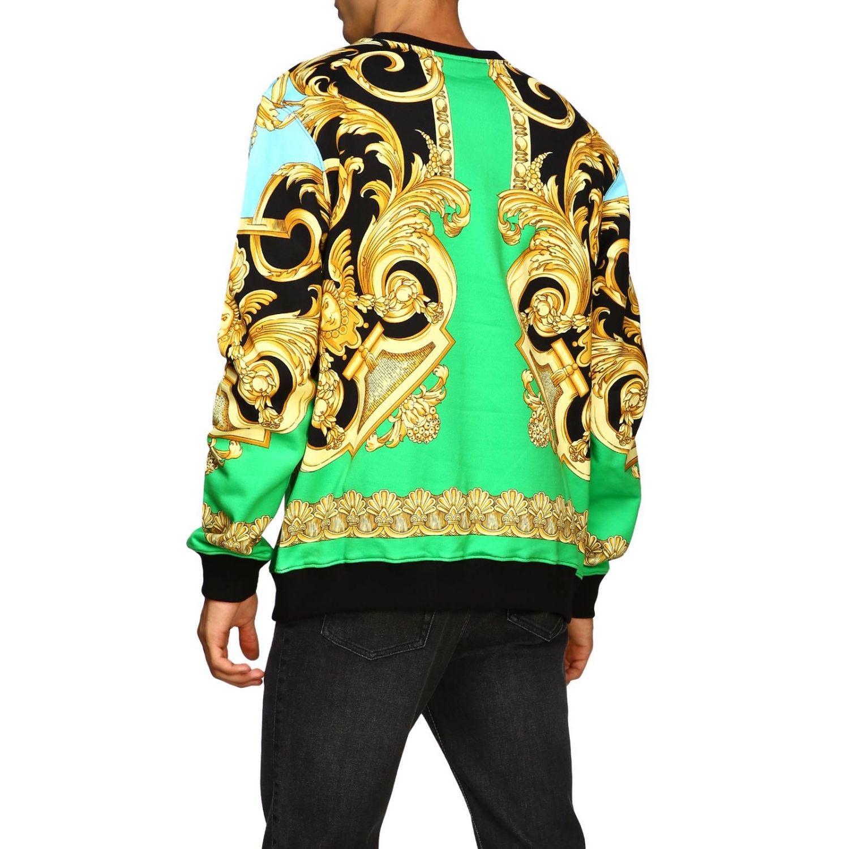 Felpa Versace a girocollo con stampa barocca fantasia 3