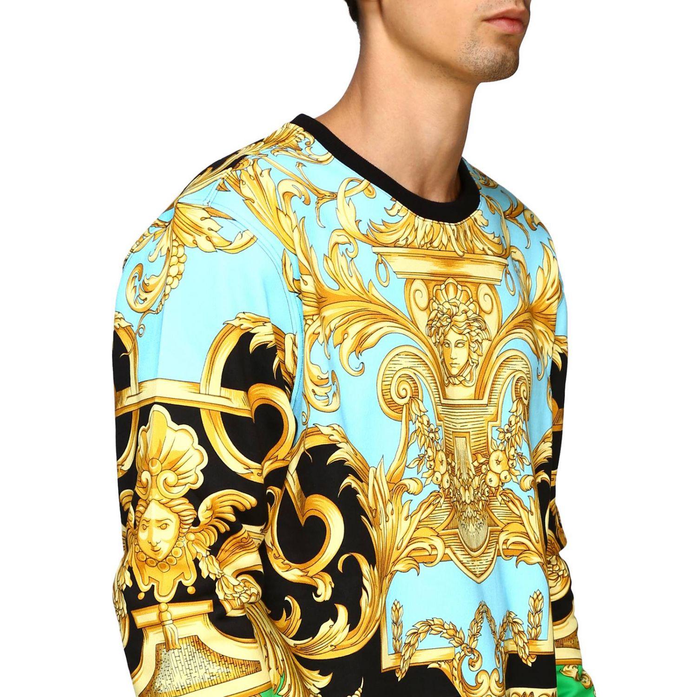 Felpa Versace a girocollo con stampa barocca fantasia 5