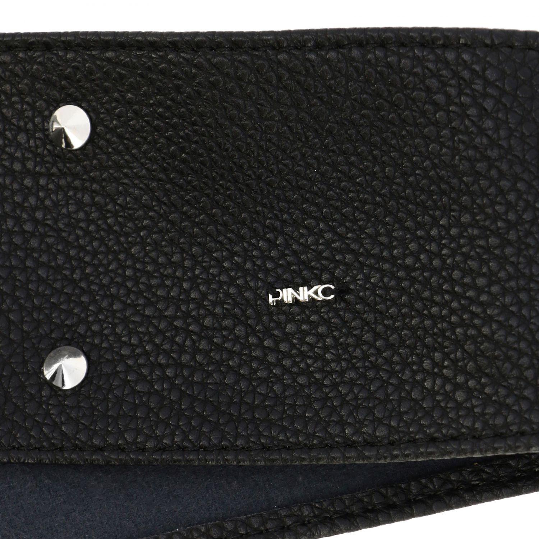 Cintura Pinko con borchie e fiocco nero 2
