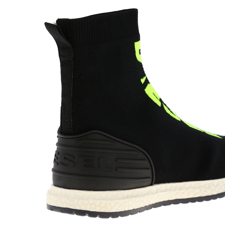 Sneakers Diesel slip on a calza con logo nero 4