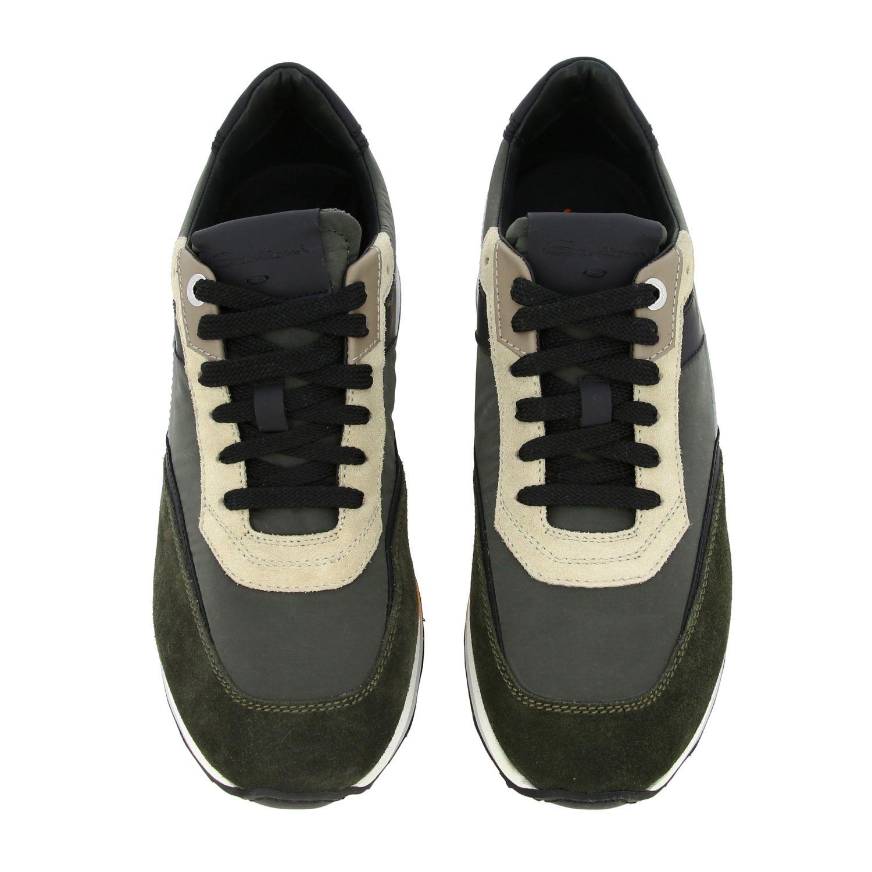 Zapatillas Santoni: Zapatillas hombre Santoni verde 3