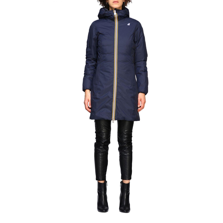 Jacket women K-way blue 1