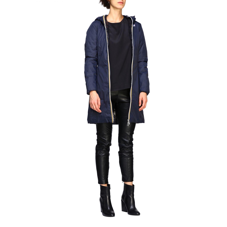 Jacket women K-way blue 2