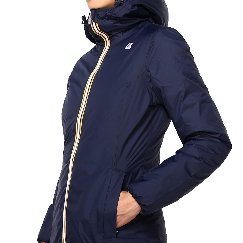 Jacket women K-way blue 5