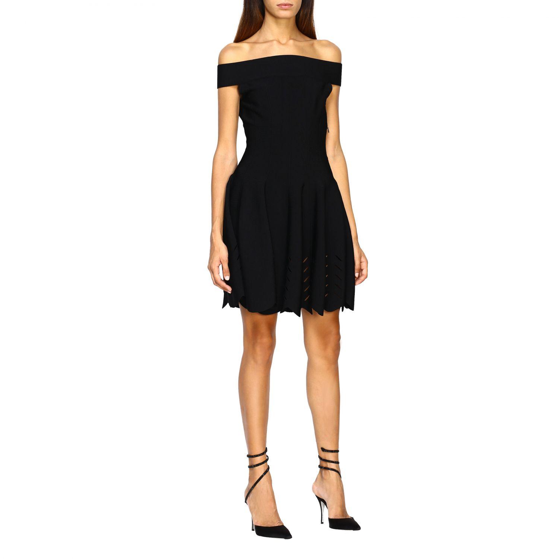 Dress Alexander Mcqueen: Dress women Alexander Mcqueen black 1