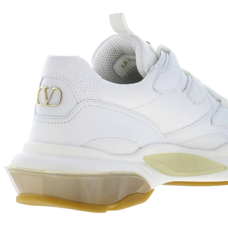 Sneakers Valentino Garavani: Valentino Garavani lace-up sneakers in genuine leather white 5