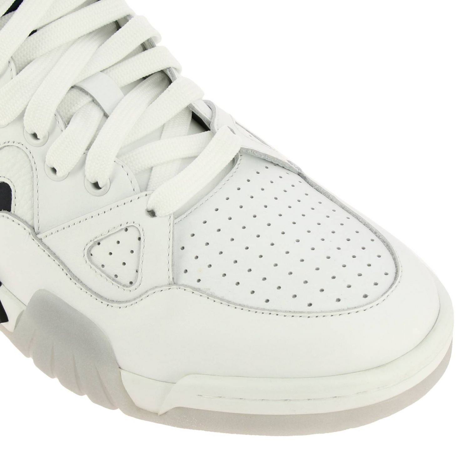 Versace sneakers in leather with maxi rubber sole white 3