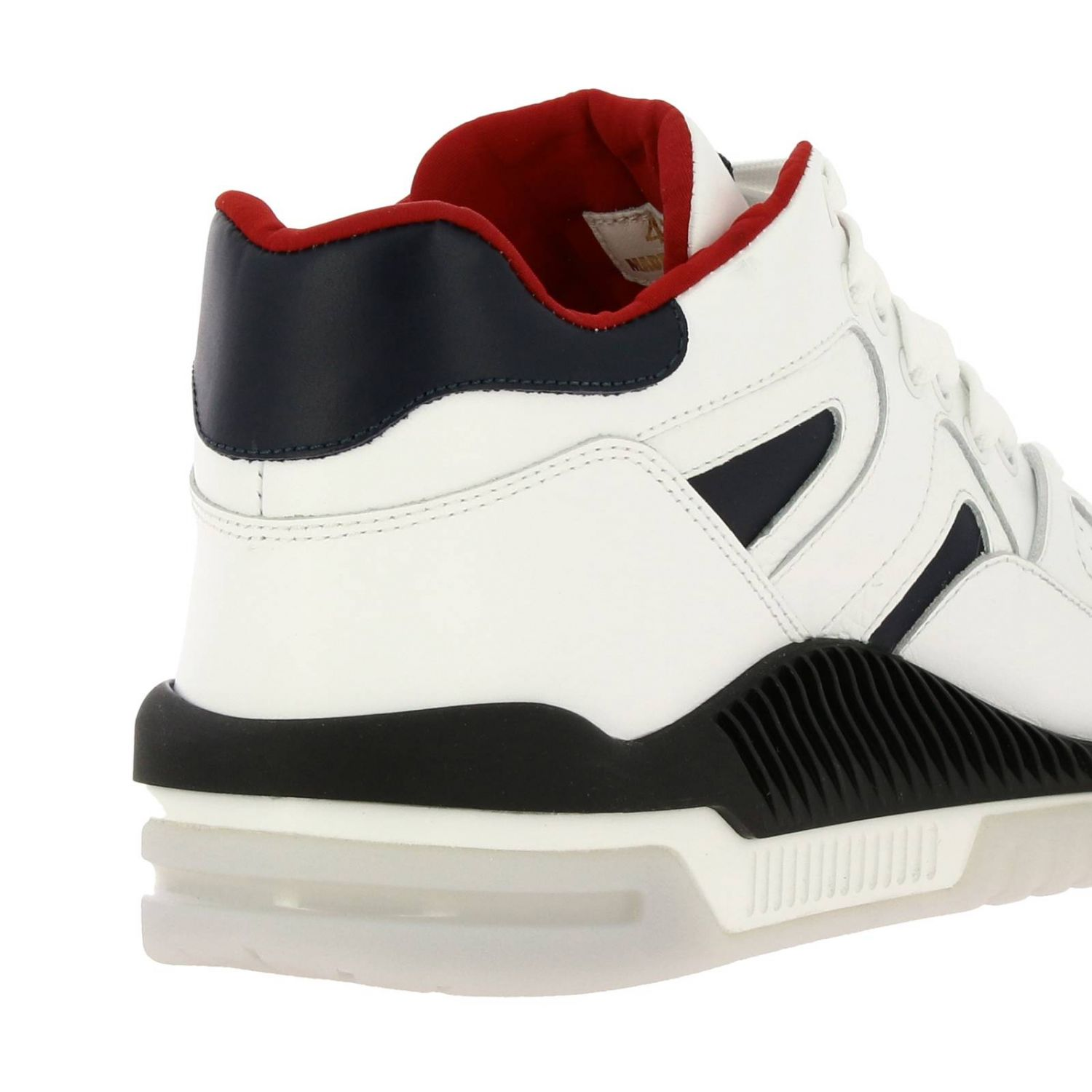 Versace sneakers in leather with maxi rubber sole white 4