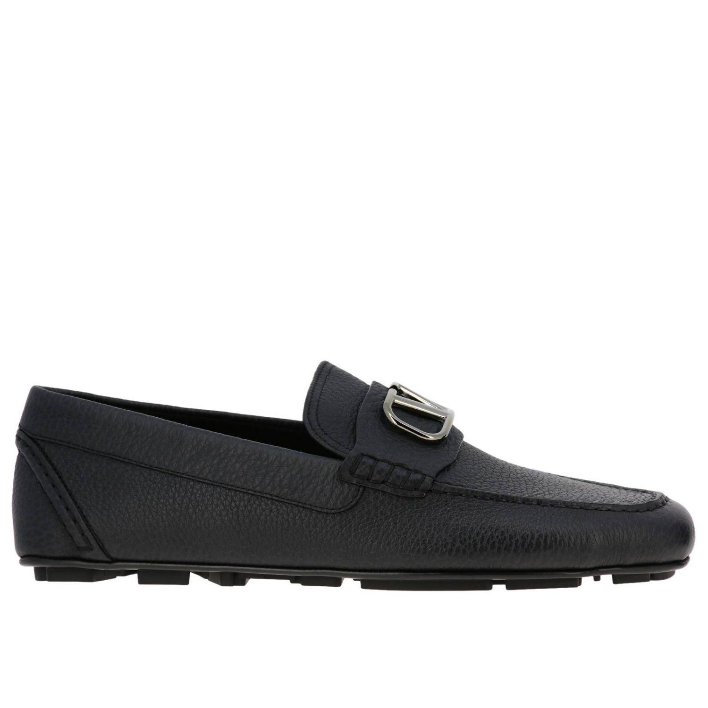 Valentino Garavani loafers in leather with maxi Vlogo black 1