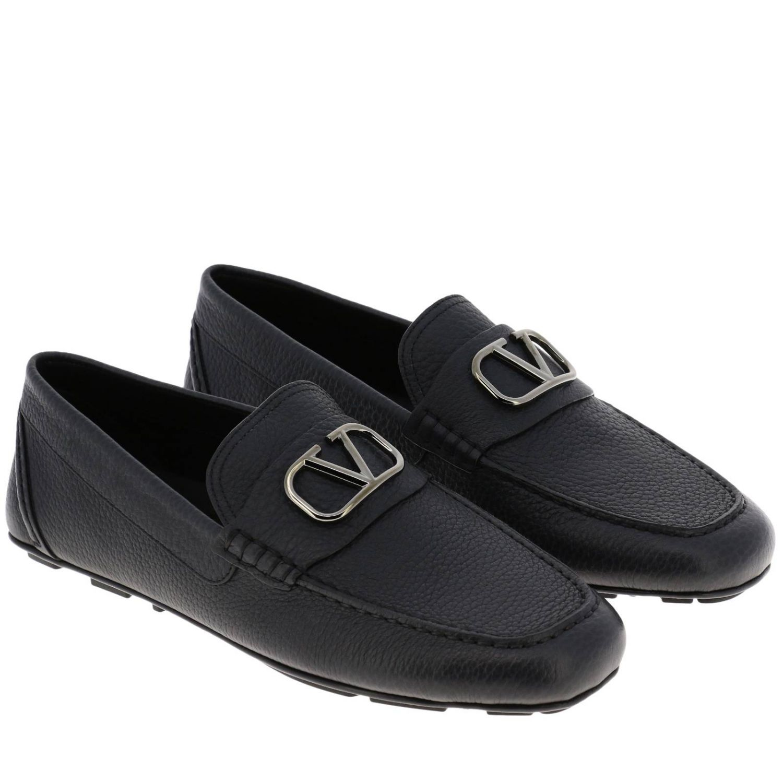 Valentino Garavani loafers in leather with maxi Vlogo black 2