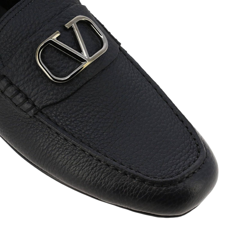Valentino Garavani loafers in leather with maxi Vlogo black 3