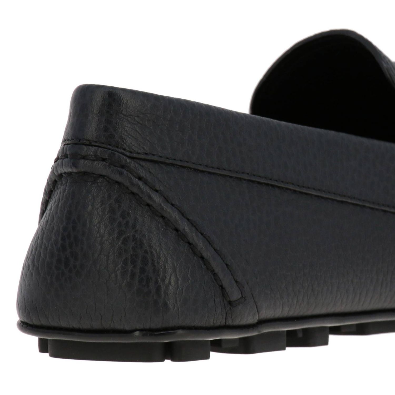 Valentino Garavani loafers in leather with maxi Vlogo black 4