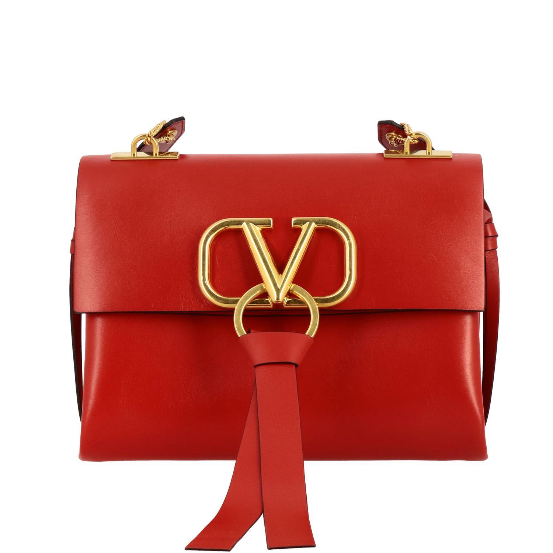 Bolso de hombro mujer Valentino Garavani rojo 1