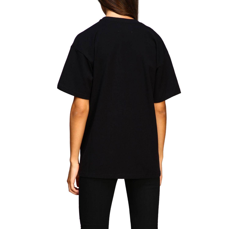 T-shirt Alberta Ferretti: T-shirt Alberta Ferretti a maniche corte con ricamo lurex help me nero 3