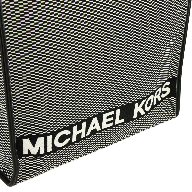 Sac cabas Michael Michael Kors en toile à micro motif avec logo