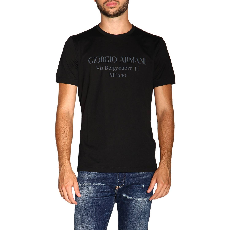 T-Shirt Giorgio Armani: Giorgio Armani T-Shirt mit Maxi Print schwarz 1