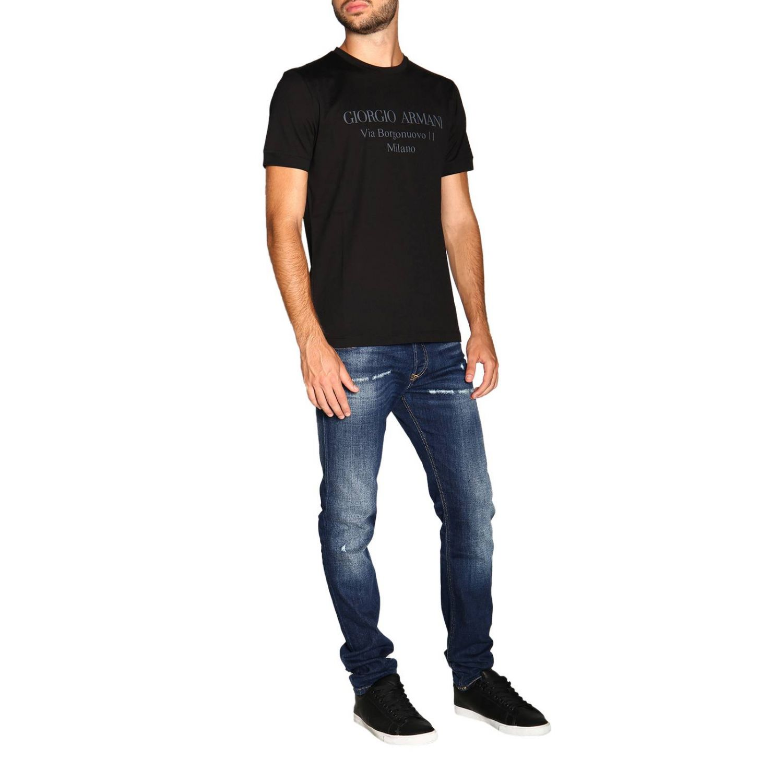 T-Shirt Giorgio Armani: Giorgio Armani T-Shirt mit Maxi Print schwarz 2