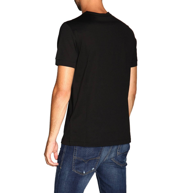 T-Shirt Giorgio Armani: Giorgio Armani T-Shirt mit Maxi Print schwarz 3