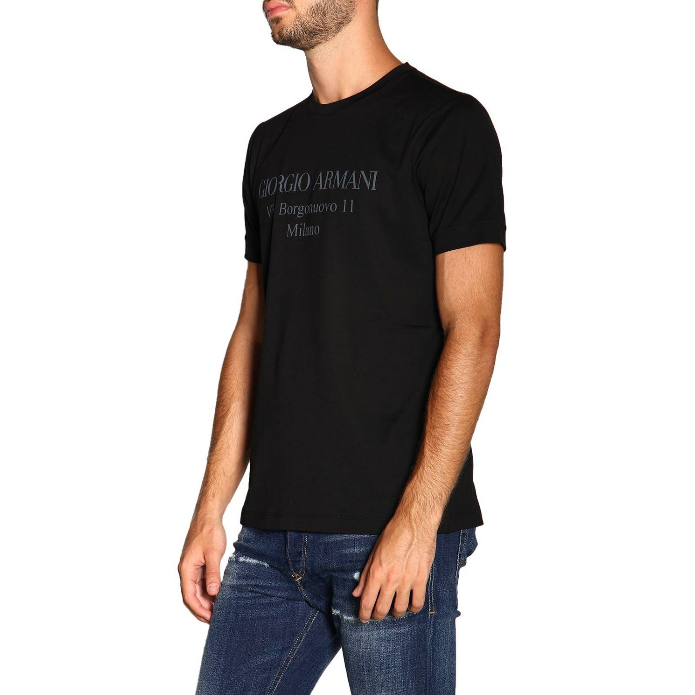 T-Shirt Giorgio Armani: Giorgio Armani T-Shirt mit Maxi Print schwarz 4