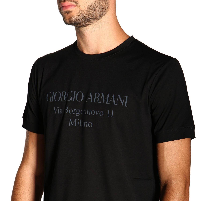 T-Shirt Giorgio Armani: Giorgio Armani T-Shirt mit Maxi Print schwarz 5