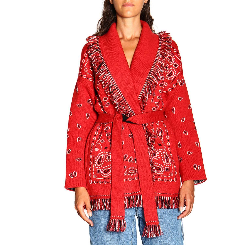 针织开衫 Alanui: 毛衣 女士 Alanui 红色 1