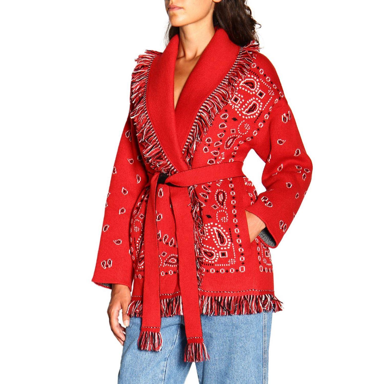 针织开衫 Alanui: 毛衣 女士 Alanui 红色 4