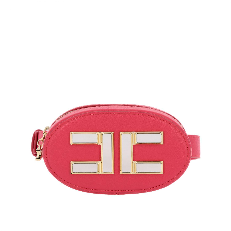 Elisabetta Franchi 人造皮logo装饰腰包 紫红色 1