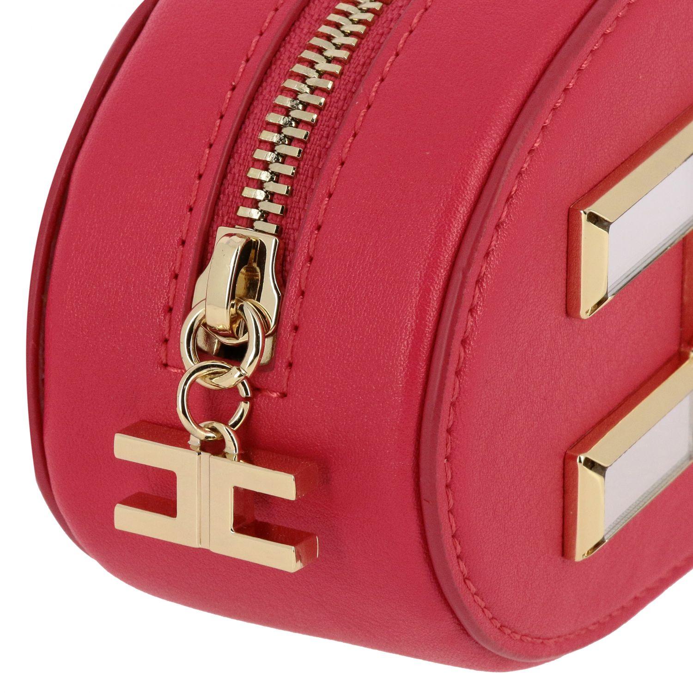 Elisabetta Franchi 人造皮logo装饰腰包 紫红色 3
