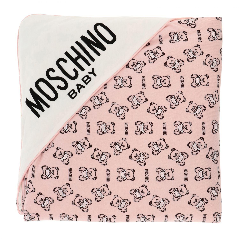 Blanket kids Moschino Baby pink 1