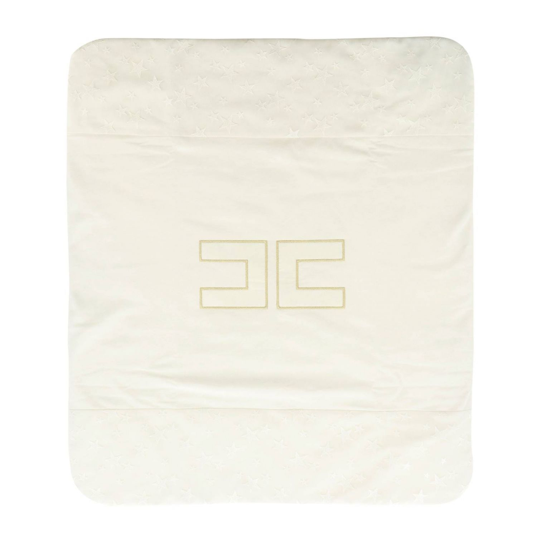Blanket kids Elisabetta Franchi ivory 2