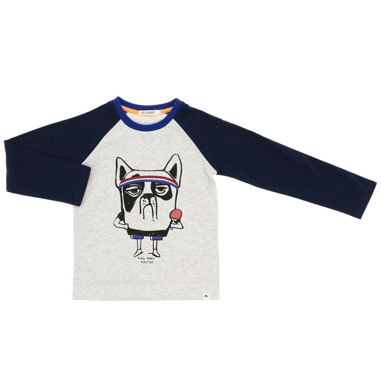 Camiseta niños Billybandit gris 1