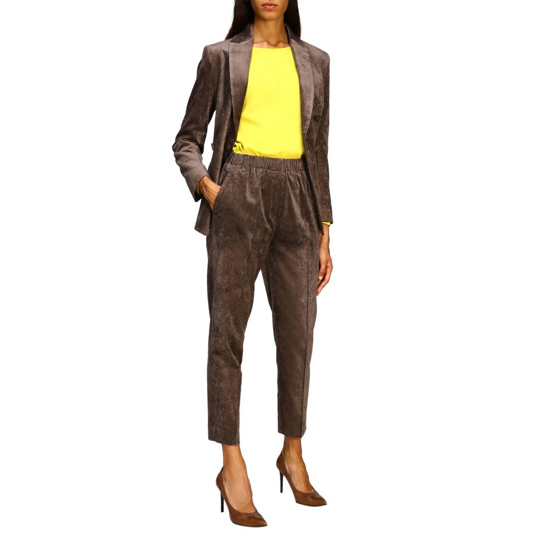 Pantalon femme Antonelli marron 2