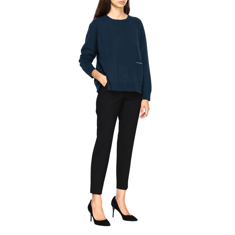 Pantalone Peserico: Pantalone donna Peserico nero 2