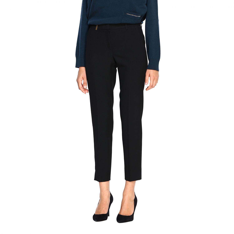 Pantalone Peserico: Pantalone donna Peserico nero 4