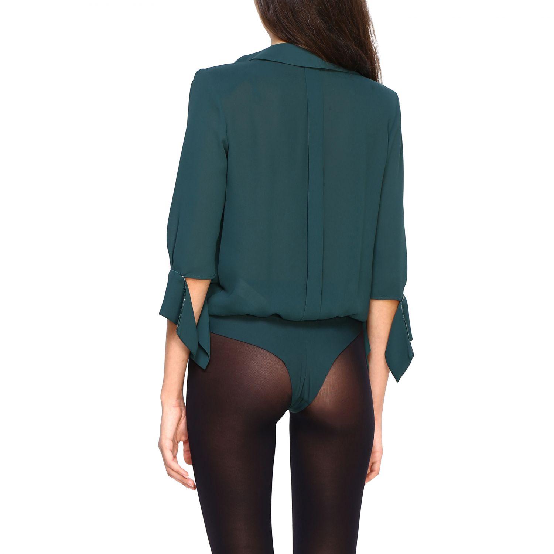 Body Elisabetta Franchi: Elisabetta Franchi Body Hemd grün 3