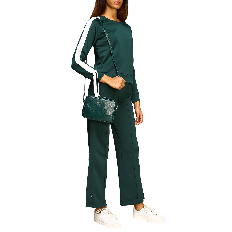 Patrizia Pepe Sweatshirt mit Rundhalsausschnitt und Streifen grün 2