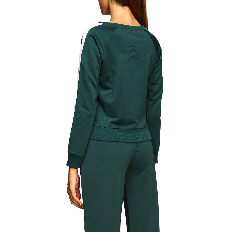 Patrizia Pepe Sweatshirt mit Rundhalsausschnitt und Streifen grün 3