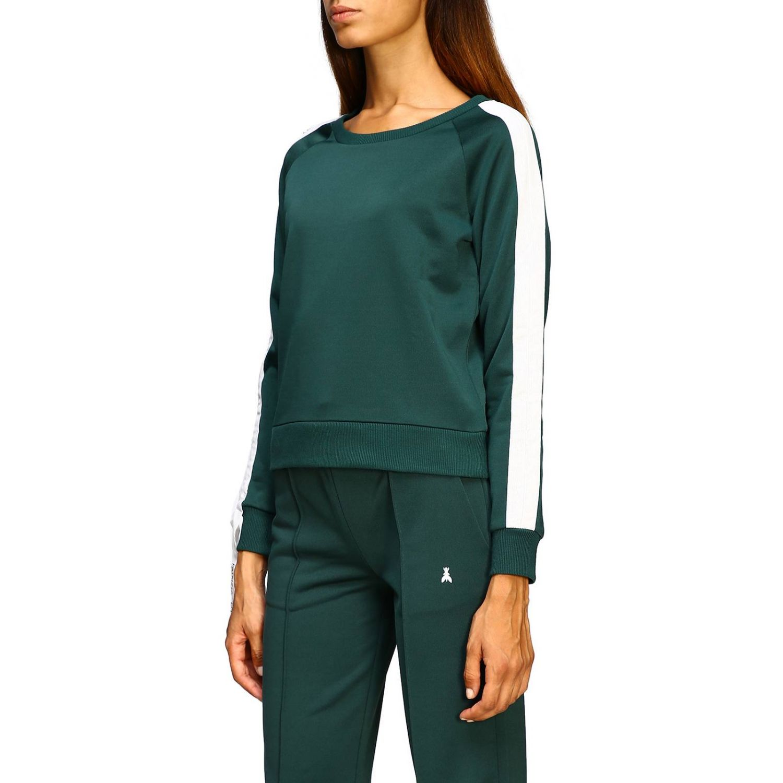Patrizia Pepe Sweatshirt mit Rundhalsausschnitt und Streifen grün 4