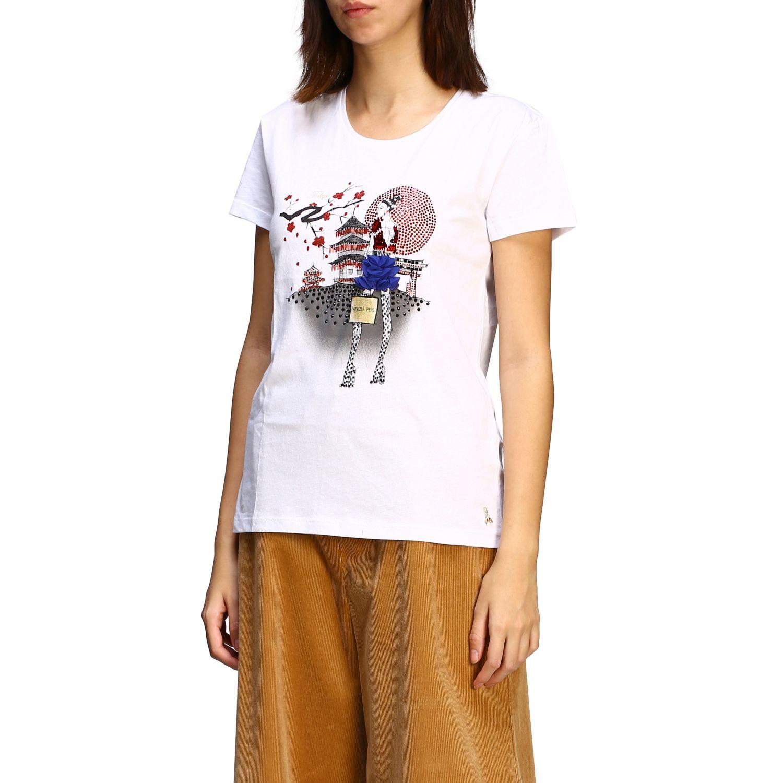 T恤 Patrizia Pepe: 毛衣 女士 Patrizia Pepe 奶油黄 4