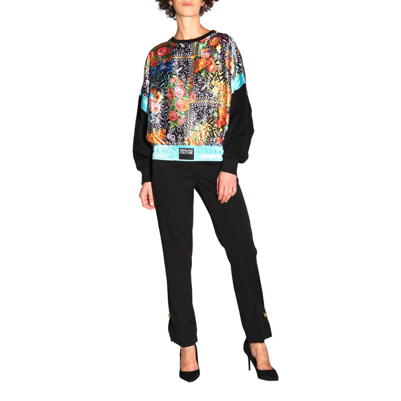 Sweatshirt Versace Jeans: Sweatshirt women Versace Jeans black 2