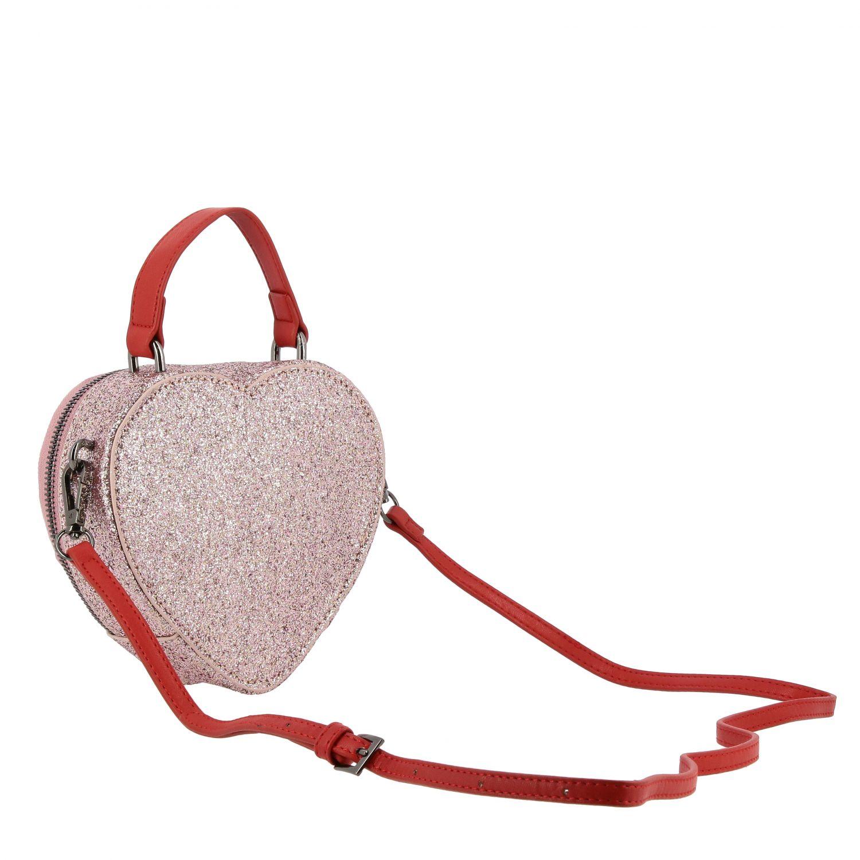 Borsa Alberta Ferretti Junior: Borsa Alberta Ferretti Junior glitter con ricamo Tomorrow rosa 2